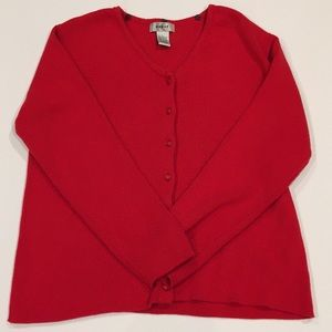 SALE! Vintage Chunky Red Cardigan Sweater